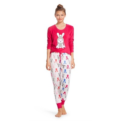 Women's Tee & Jogger Sleep Set - Rabbit -  L