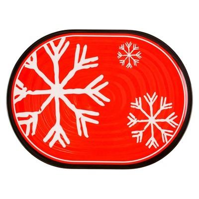 Threshold Rectangle Appetizer Plates - melamine snowflakes