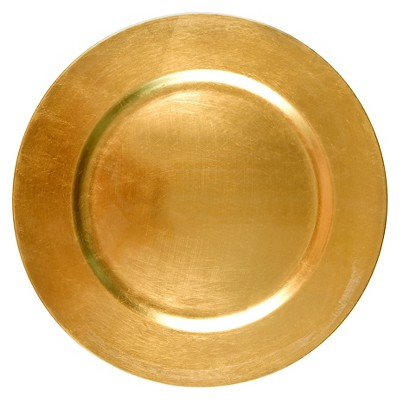 Threshold™ Round Charger - Polypro Metallic gold
