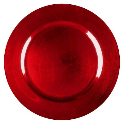Threshold™ Round Charger - Polypro Metallic red