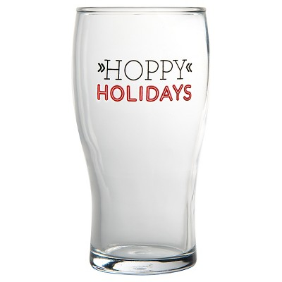 16oz Pint Glass - Hoppy Holidays