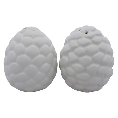 Threshold™ 1 set salt & pepper shaker with white pine cone
