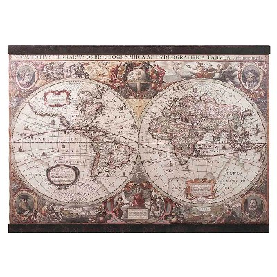 Aurora Vintage Map Wall Art