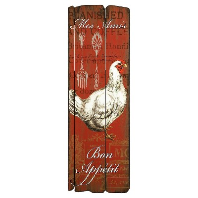 Aurora Chicken Kitchen Wall Art - Red