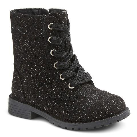 toddler ditzah glitter lace up boots black target