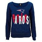 New England Patriots Girls Open Neck Fleece S