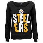 Pittsburgh Steelers Girls Open Neck Fleece S
