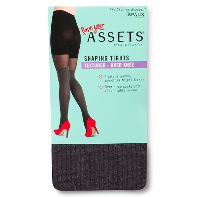 ASSETS® by Sara Blakely® Women's Tights Semi Opaque Mid Rise - Gray L
