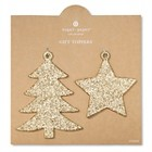 Sugar Paper Glitter Gold Gift Toppers
