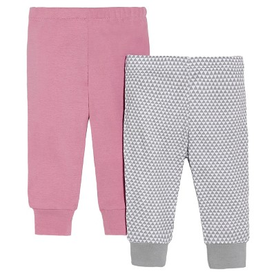 Skip Hop Newborn Girls' Long-sleeve' 2pk Pant - Pink 3 M