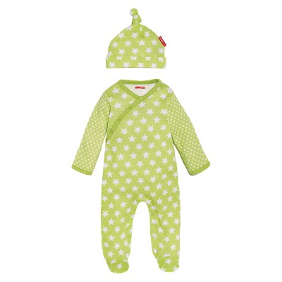 Skip Hop Newborn Side-Snap and Hat Set - Lime 3 M