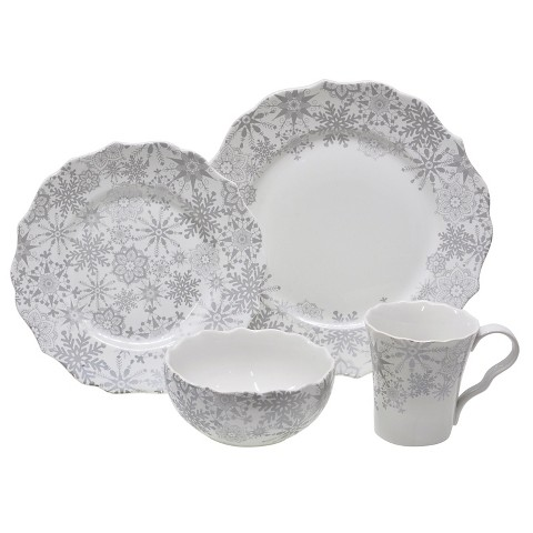 222 fifth snow flurry 16 piece dinnerware set target for 222 fifth dinnerware