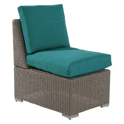 Heatherstone Wicker/Steel Sectional Armless Chair - Turquoise - Threshold™
