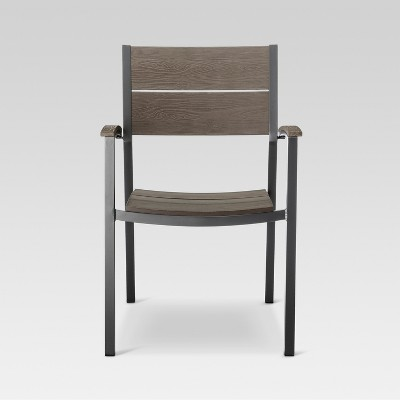 Sommer Aluminum/Faux Wood Dining Chair set of 4 - Threshold™