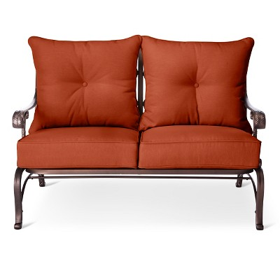 Folwell Cast Aluminum Loveseat-Orange  - Threshold™