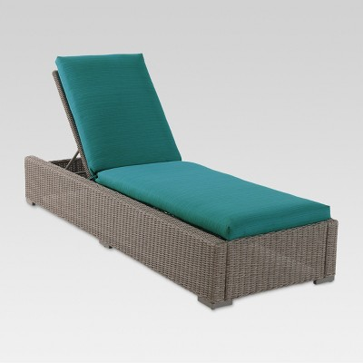 Heatherstone Wicker Patio Chaise Lounge Turquoise - Threshold™