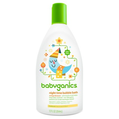 Babyganics Night Time Baby Bubble Bath, Orange Blossom - 12oz