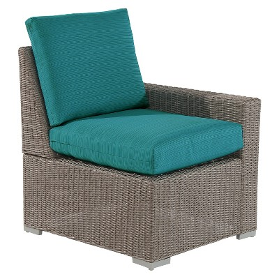 Heatherstone Wicker/Steel Left Arm Sectional - Turquoise - Threshold™