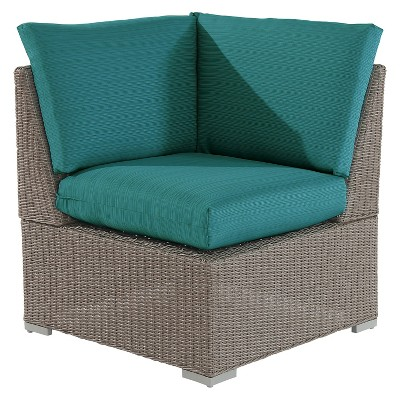 Heatherstone Wicker/Steel Sectional Universal Corner Chair - Turquoise - Threshold™