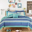 Blue Electric Beach Comforter Set