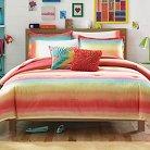 Electric Beach Mini Comforter Set - Coral (Twin)