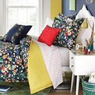 Folksy Floral Mini Comforter Set - Navy (Twin)