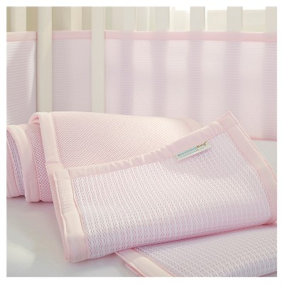 Breathable Baby® Deluxe Mesh Crib Liner - Pink