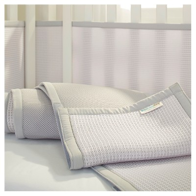 Breathable Baby® Deluxe Mesh Crib Liner - Gray