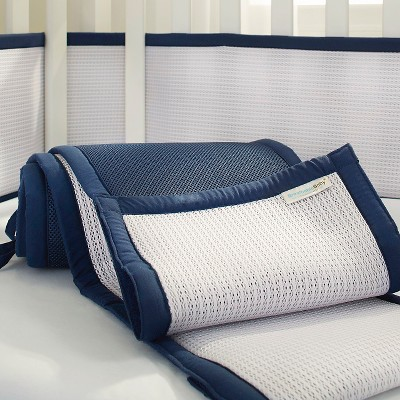 Breathable Baby® Deluxe Mesh Crib Liner - Navy