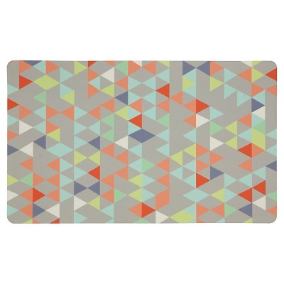 "Mohawk Loose Triangles Kitchen Rug - Gray (18""x30"")"