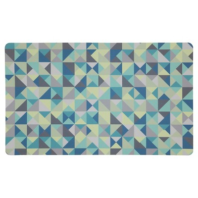 "Mohawk Color Optical Kitchen Rug - Teal (18""x30"")"