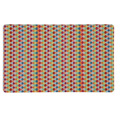 "Mohawk Dot Pin Stripes Kitchen Rug - Red (18""x30"")"