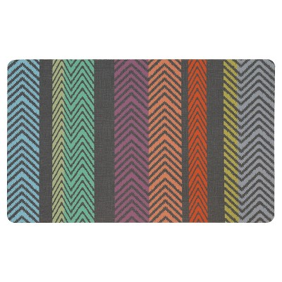 "Mohawk Textured Chevrons Kitchen Rug - Charcoal (18""x30"")"