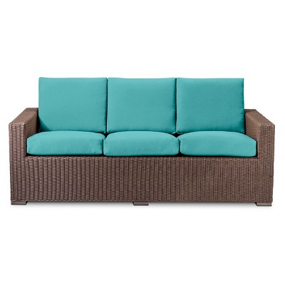 Heatherstone All Weather Wicker Sofa - Turquoise - Threshold™