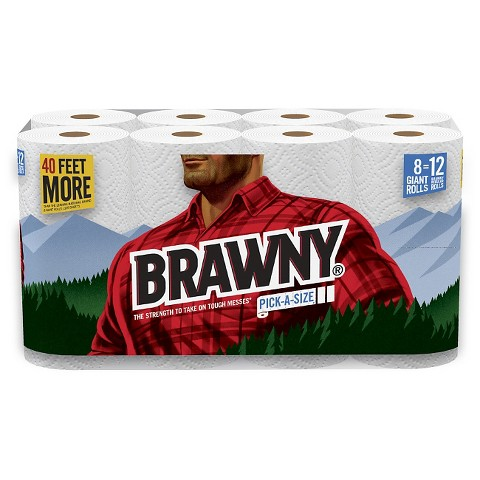 Brawny   White Paper Towels 117 Sheets   8 Rolls product details page n4C4Dkpo