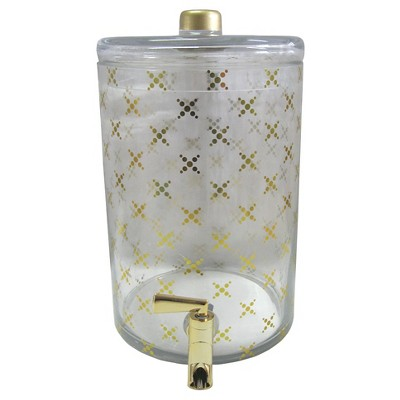 Threshold™Glass Beverage Dispenser with Gold Decal-Clear & Gold
