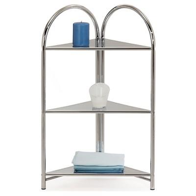 Favorite Finds Three Shelf Corner Stand Metal/Chrome - Leick Furniture