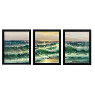 "Trademark Global David Evans 'Apostles from the Beach' Multi Frame Art Set (22"")"