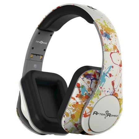 life n soul splash bluetooth designer headphone white target. Black Bedroom Furniture Sets. Home Design Ideas
