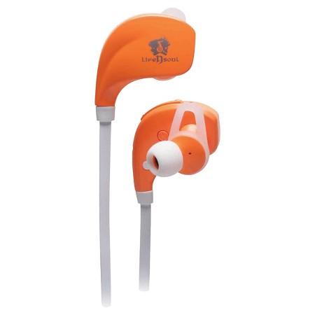 life n soul bluetooth sport earphones orange target. Black Bedroom Furniture Sets. Home Design Ideas