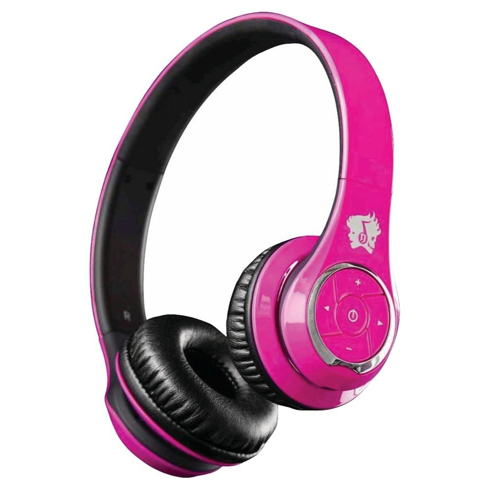 life n soul bluetooth headphones on ear controls pink black vv2851. Black Bedroom Furniture Sets. Home Design Ideas