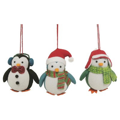 Penguin Ornament Set 4 Ct