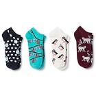 Women's Low-Cut Socks Winter Stripes White 4-Pack 4-10 - Xhilaration™
