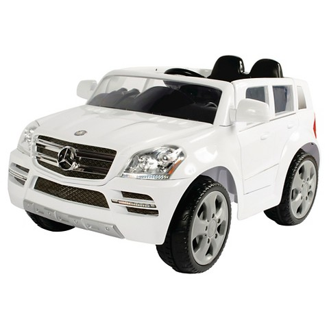 White mercedes suv 6v ride on target for Mercedes benz power wheels