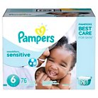 Pampers Swaddlers Sensitive Diapers Economy Pack Size 6 (76 Count)