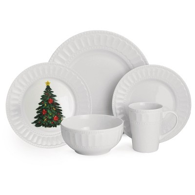 American Atelier Radiant Christmas 20-pc. dinnerware Set