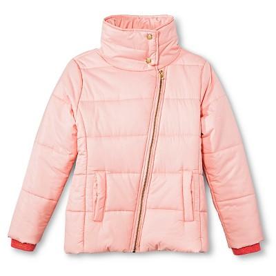 Girls' Puffer Jackets - Cherokee® Dramatic Pink XL