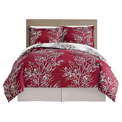 Comforter Set VCNY QUEEN Red White