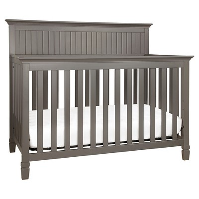 DaVinci Perse 4-in-1 Convertible Crib with Toddler Rail - Slate