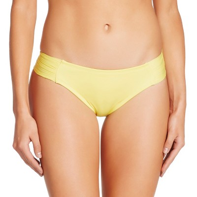Women's Tabside Hipster Bikini Bottom - Lemon Yellow - L - Mossimo